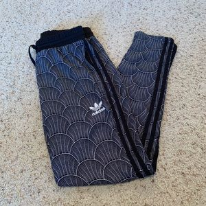 Adidas women's 3 stripes patterned track pants
